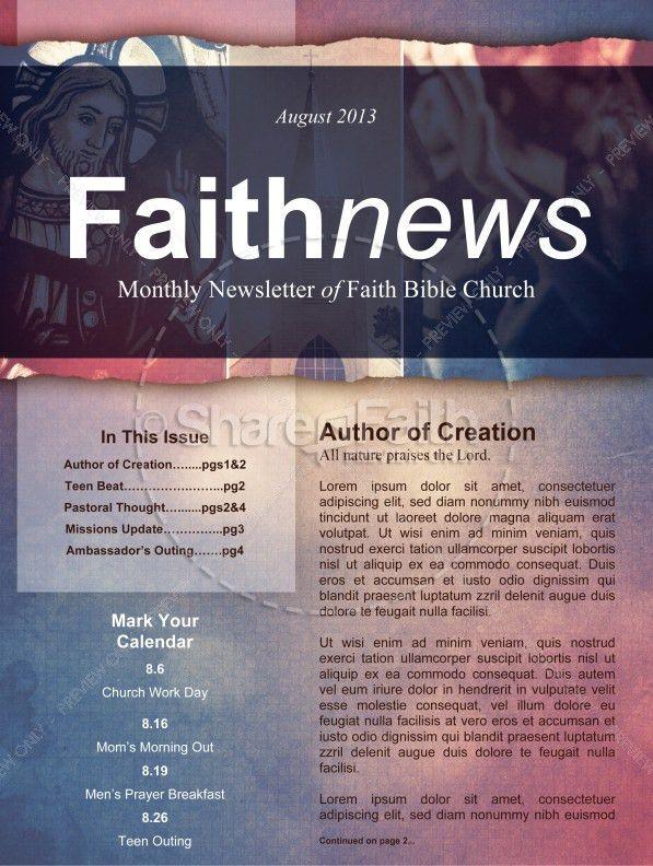 Define Church Newsletter Template Template | Newsletter Templates