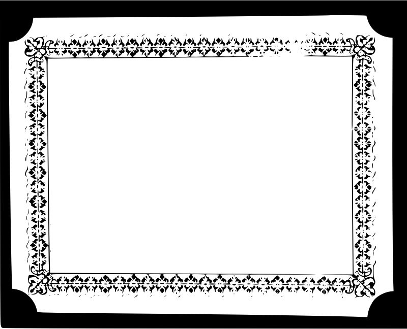 Clipart - Deed Border Template 3