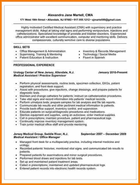 8+ certified medical assistant resume | resume reference
