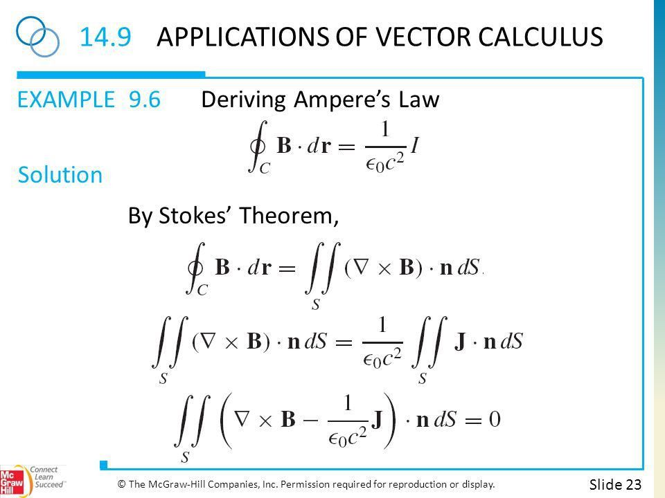CHAPTER 14 Vector Calculus Slide 2 © The McGraw-Hill Companies ...