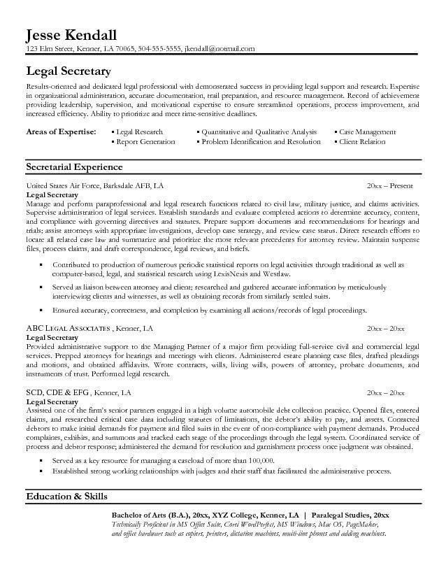 secretary objective for resume examples secretary resume sample