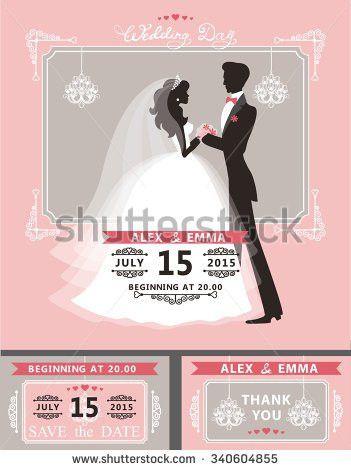 Wedding Invitation Card Template Cute Groom Stock Vector 146836430 ...