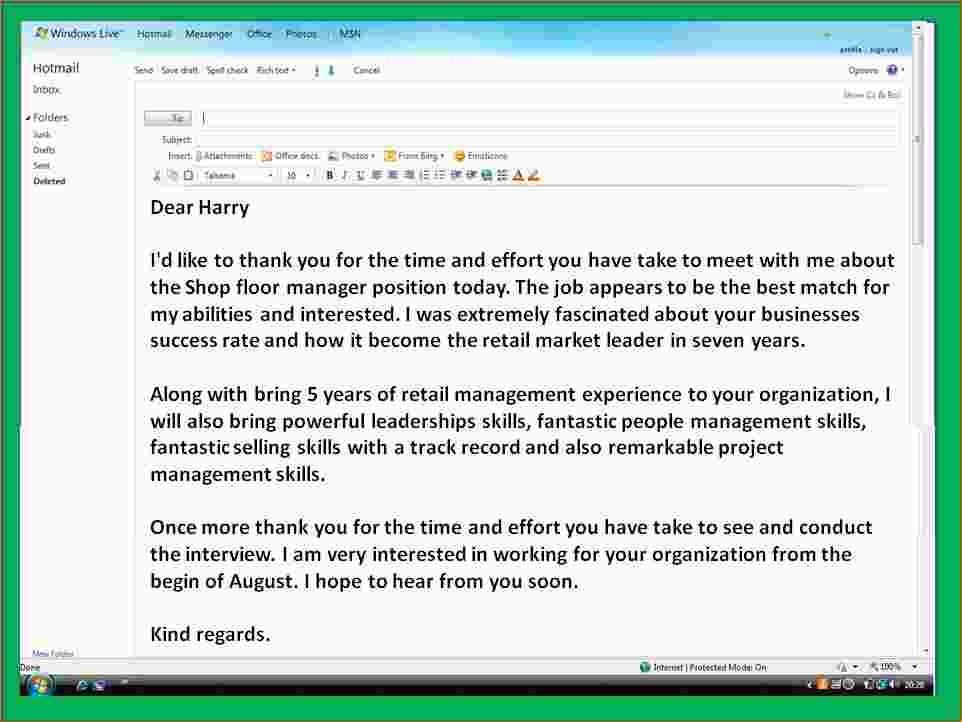 4+ Thank You Letter Email After Interview | Ganttchart Template