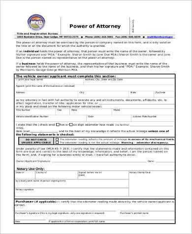 Blank Power Of Attorney Form. Free Blank Power Of Attorney Form ...