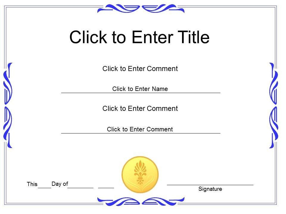 award recognition diploma certificate template of achievement ...