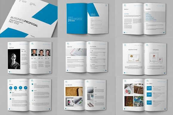 Clean Proposal & Brief Template by celcius design on ...