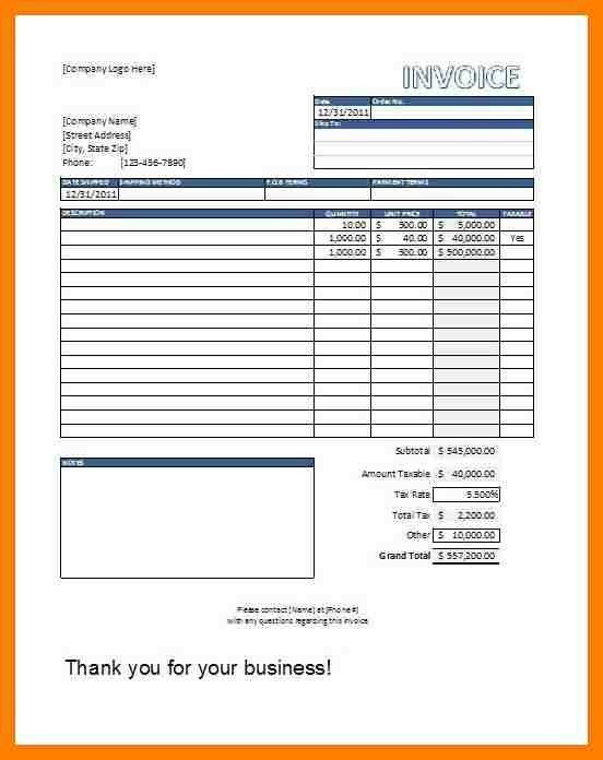 8+ sales invoice format in excel | packaging clerks