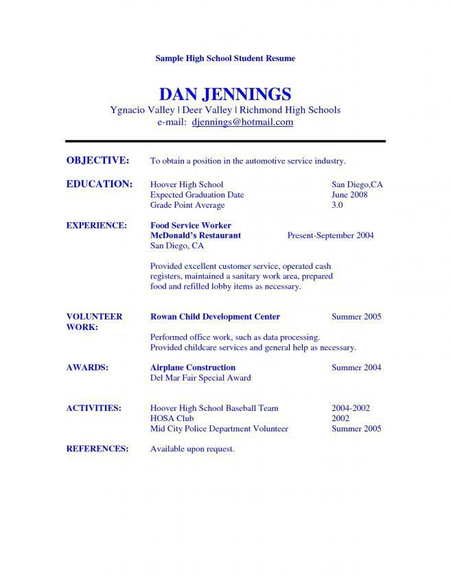 6 Objective For Student Resume Resume resume objective for student ...