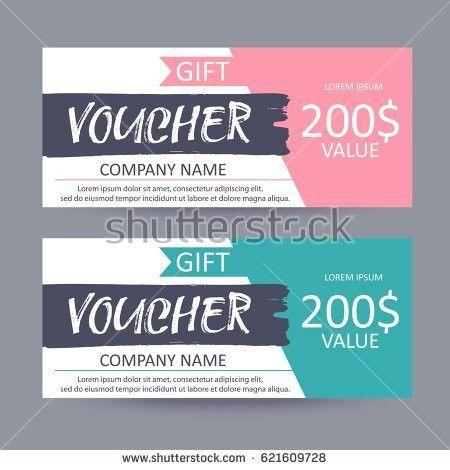 Gift Voucher Template Discount Certificate Gift Stock Vector ...