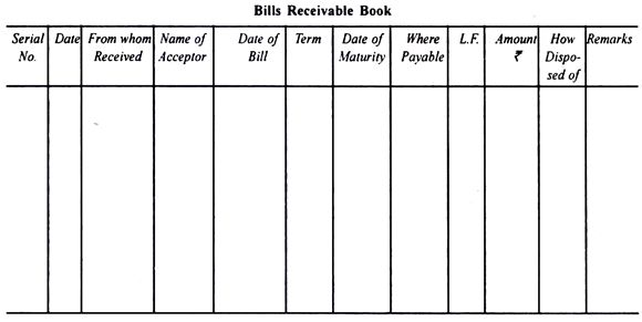 Bills Receivable and Bills Payable Books (With Specimen)