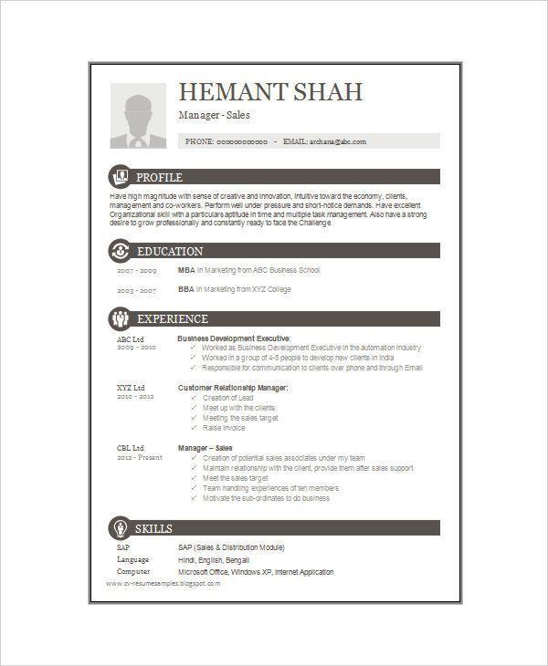 16+ One-Page Resume Templates | Free & Premium Templates