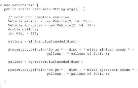 Adding a Constructor to the Vehicle Class - Java, A Beginner's ...