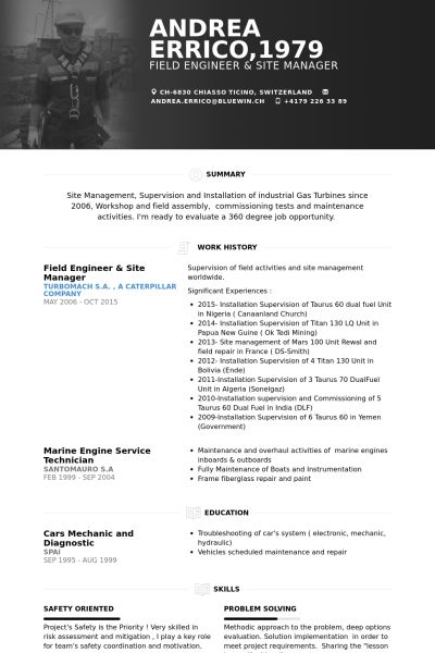 Field Application Engineering Manager Resume Field Application