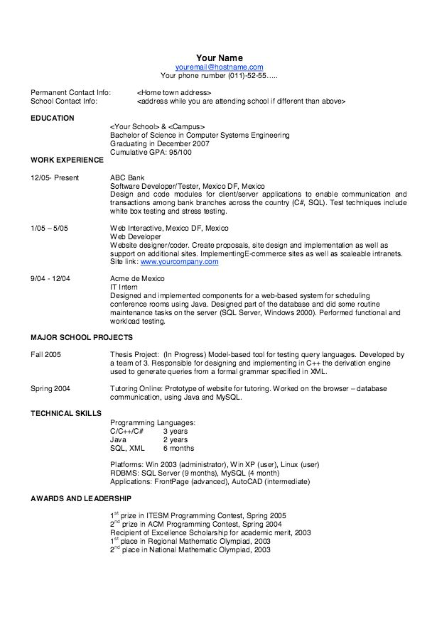 Good Resume Templates Professional - http://resumesdesign.com/good ...