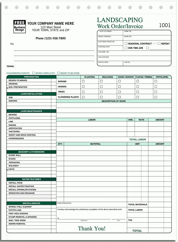 Download Simple Landscaping Invoice | rabitah.net