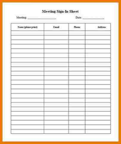 6+ meeting sign in sheet | assistant cover letter