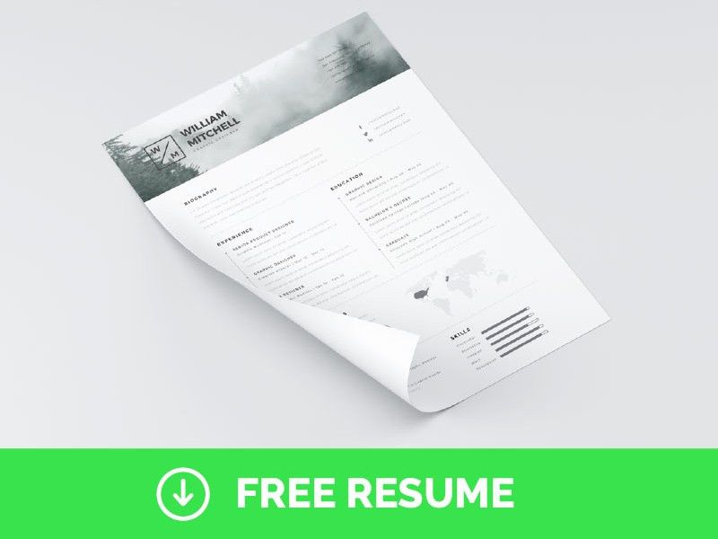 FREE Minimal & Clean Resume Template (Photoshop & Adobe ...