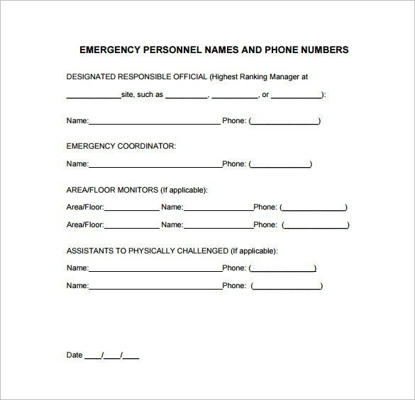 Emergency Action Plan Template. Emergency Action Plan Template ...