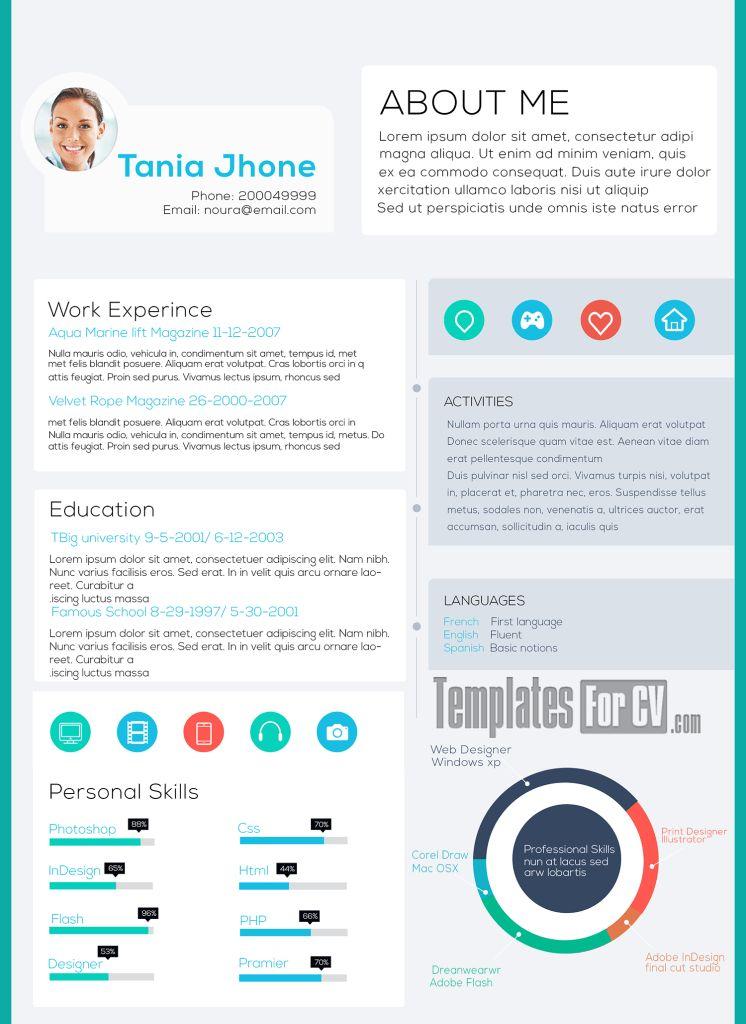 Executive CV Template | Template Cv Infografica Gratis | Pinterest ...
