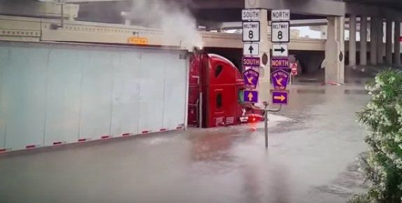 Police investigate death of a truck driver in Houston flood