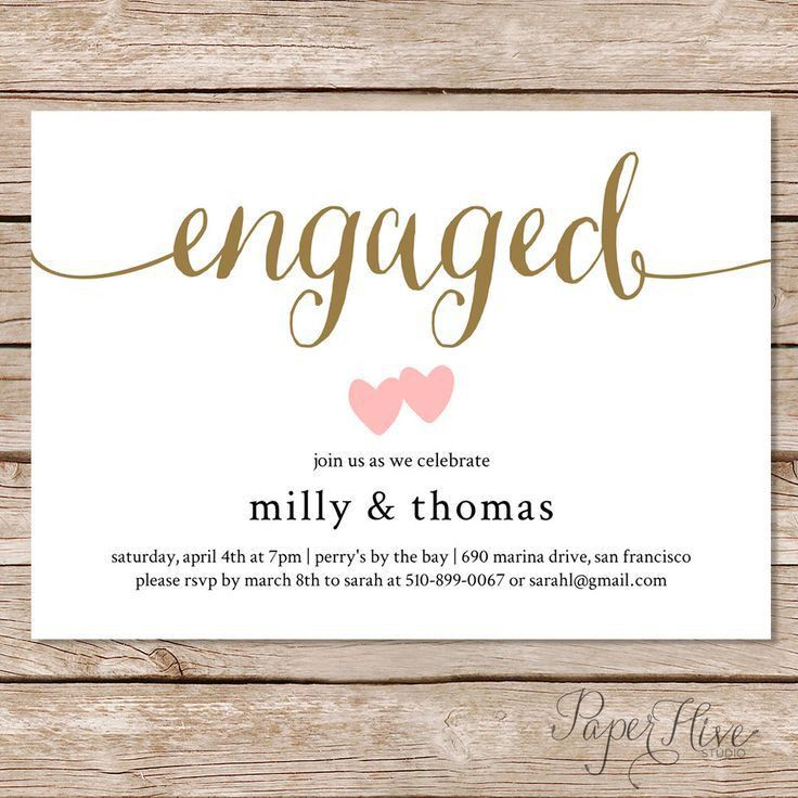19 best Engagement invitation images on Pinterest | Engagement ...