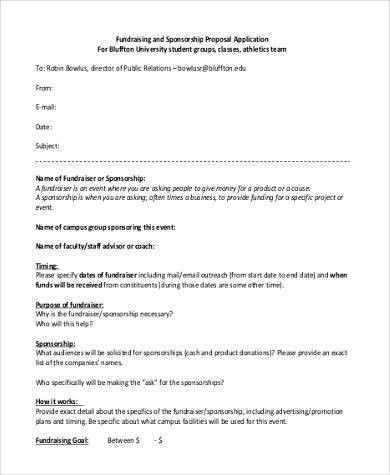 Sample Proposal Application Forms - 8+ Free Documents in Word, PDF