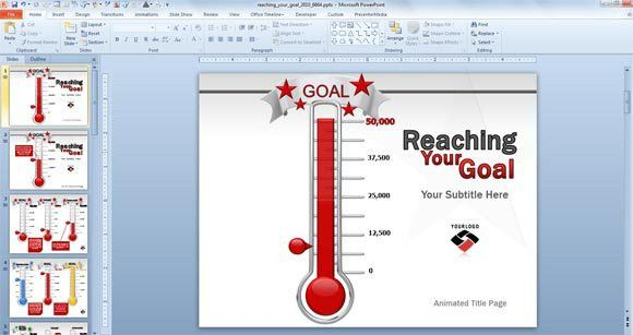 Animated Goal Chart Template for PowerPoint