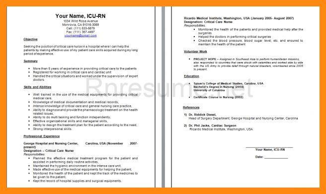 icu nurse resume examples unforgettable intensive care nurse