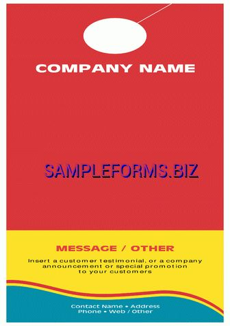 Real Estate And Construction Door Hanger Template 2 pdf free — 1 pages