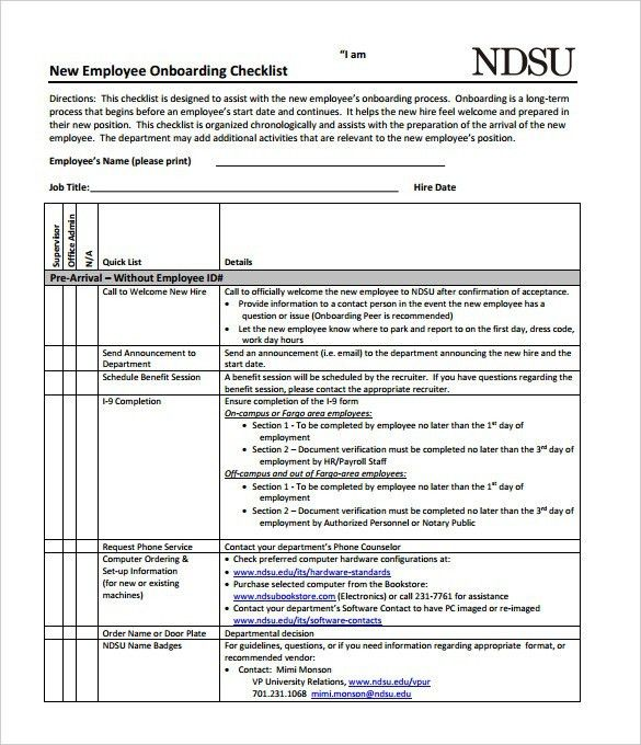 Stunning New Hire Checklist Template Pictures - Best Resume ...