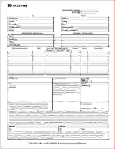 5 free bill of lading formReport Template Document | report template