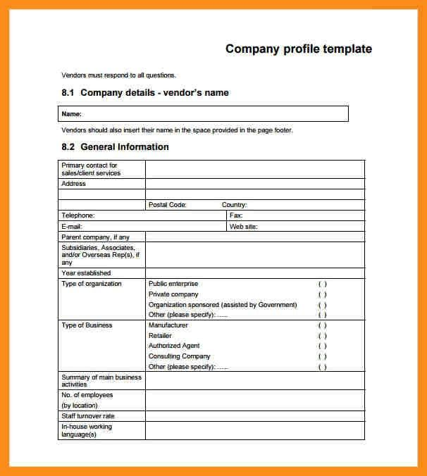 8+ sample company profile | resume setups