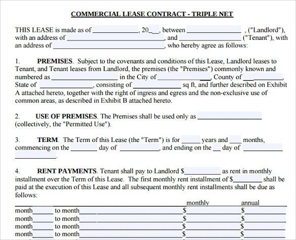 15 Best Images of Printable Commercial Lease Forms - free ...