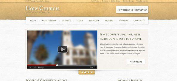 Church Website PSD Template - Free PSD Files