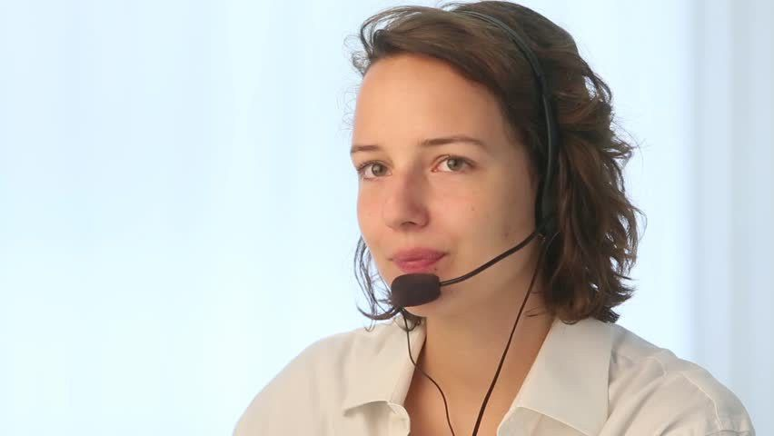 Close Up Caucasian Female Business Consultant Working Laptop ...