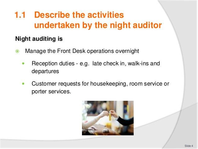 Conduct a Night Audit
