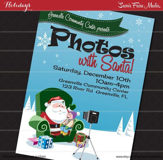 Pictures with Santa Flyer // Photos with Santa Flyer Poster ...