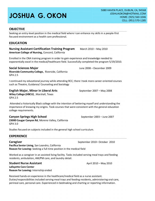 10 cna resume sample no experience job duties cna cover letter