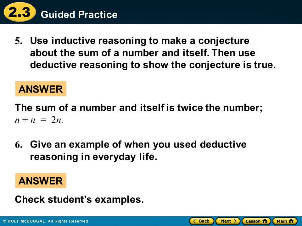 2.3 Warm Up Warm Up Lesson Quiz Lesson Quiz Lesson Presentation ...