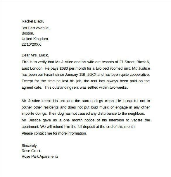 Housing Reference Letter. Housing Reference Letter Sample Sample ...