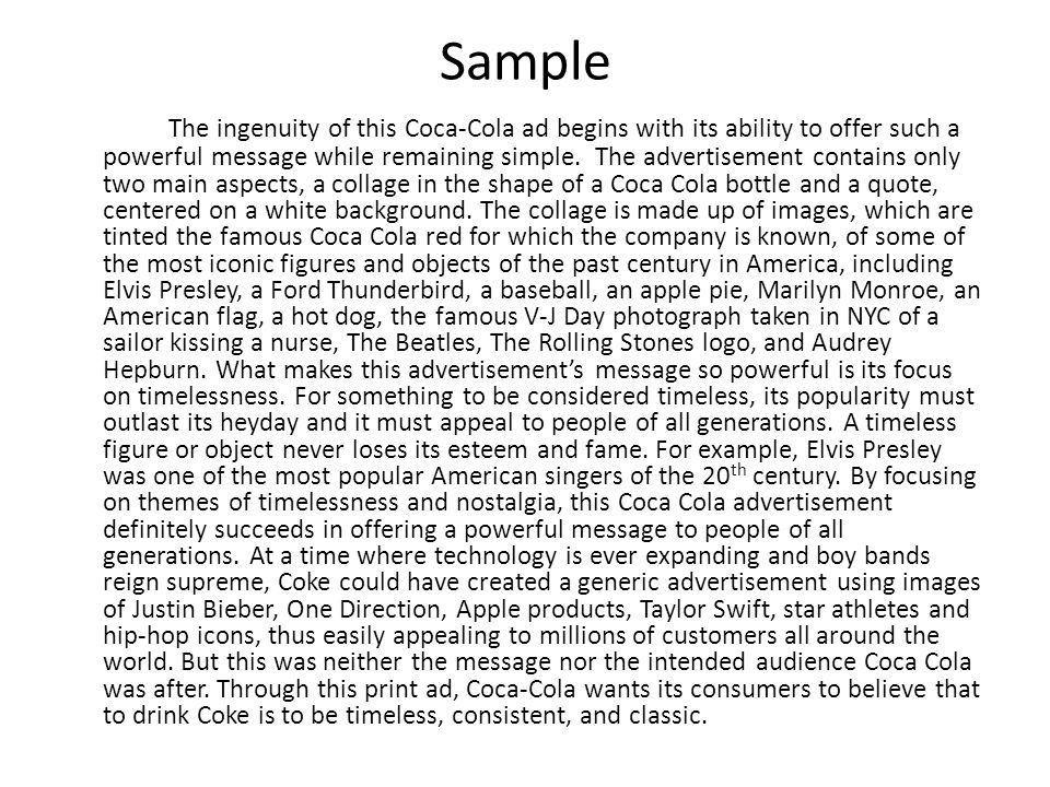 Rhetorical Analysis of… an advertisement - ppt video online download