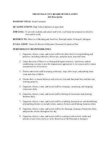 Custodian Job Description. Social Media Specialist Job Description ...