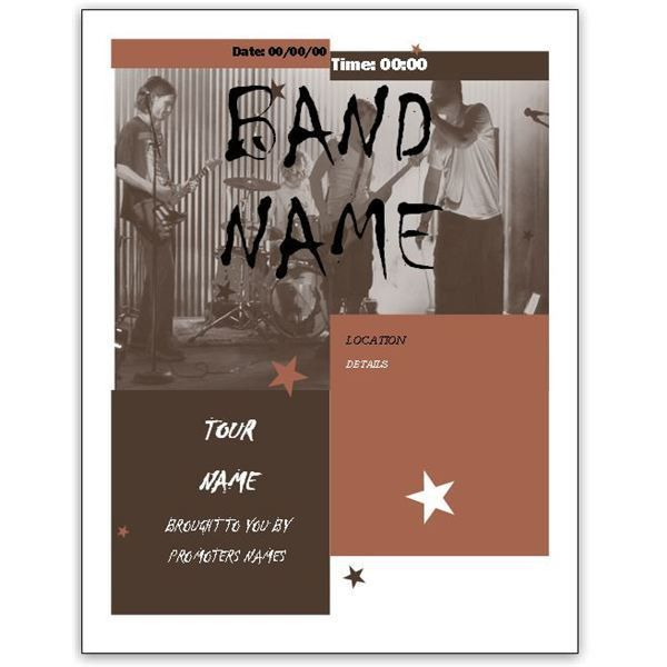 Download Free Band Flyer Templates for MS Word or Publisher