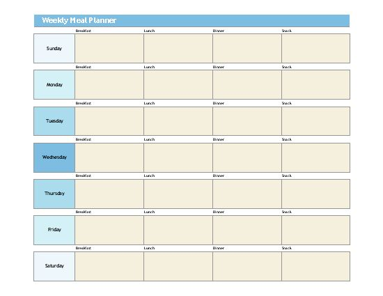 7+ Weekly Planner Templates - Word Excel PDF Templates
