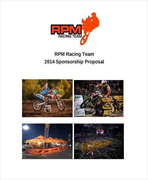 Team Sponsorship Proposal Templates -8+ Free Word, PDF Format ...