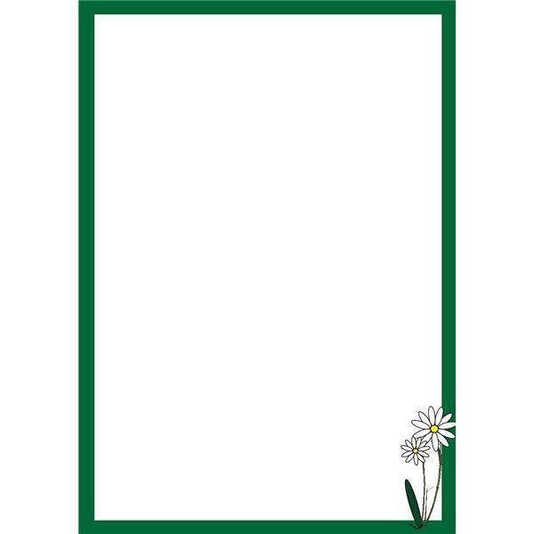 free border clip art for microsoft word | Decorative Daisy Border ...
