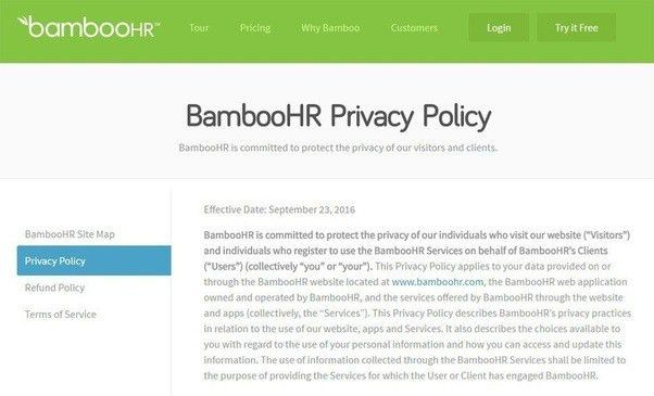 What are some things that all privacy policies must have or cover ...