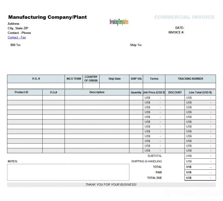 Simple Invoice Format In Excel Keyboard | Design Invoice Template