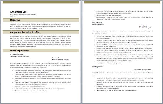 example executive recruiter resume. example executive recruiter ...