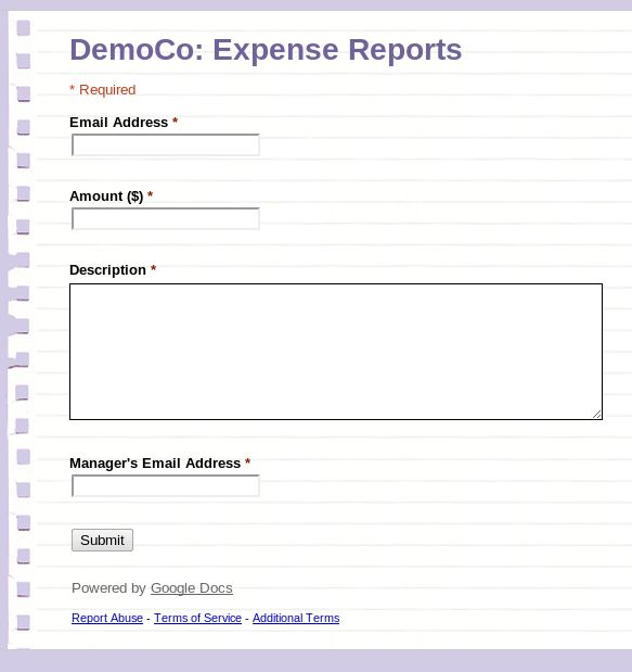 Google Apps: Creating a Workflow Based Expense Tracking System ...
